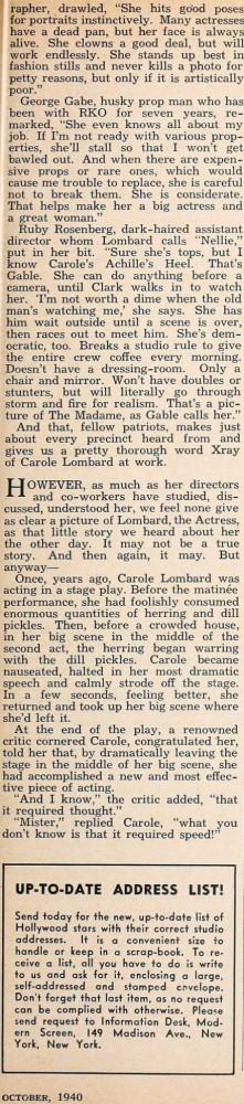 carole lombard modern screen october 1940ea