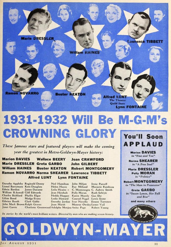 silver screen august 1931ga