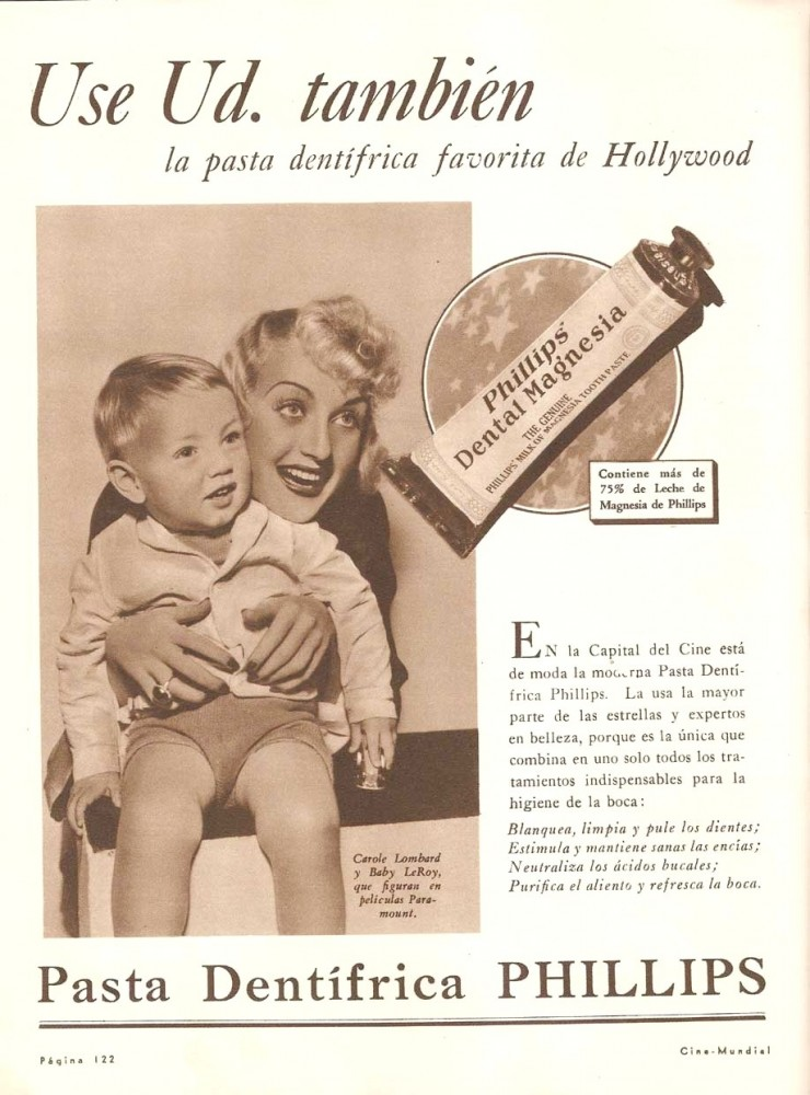 carole lombard phillips portuguese ad baby leroy