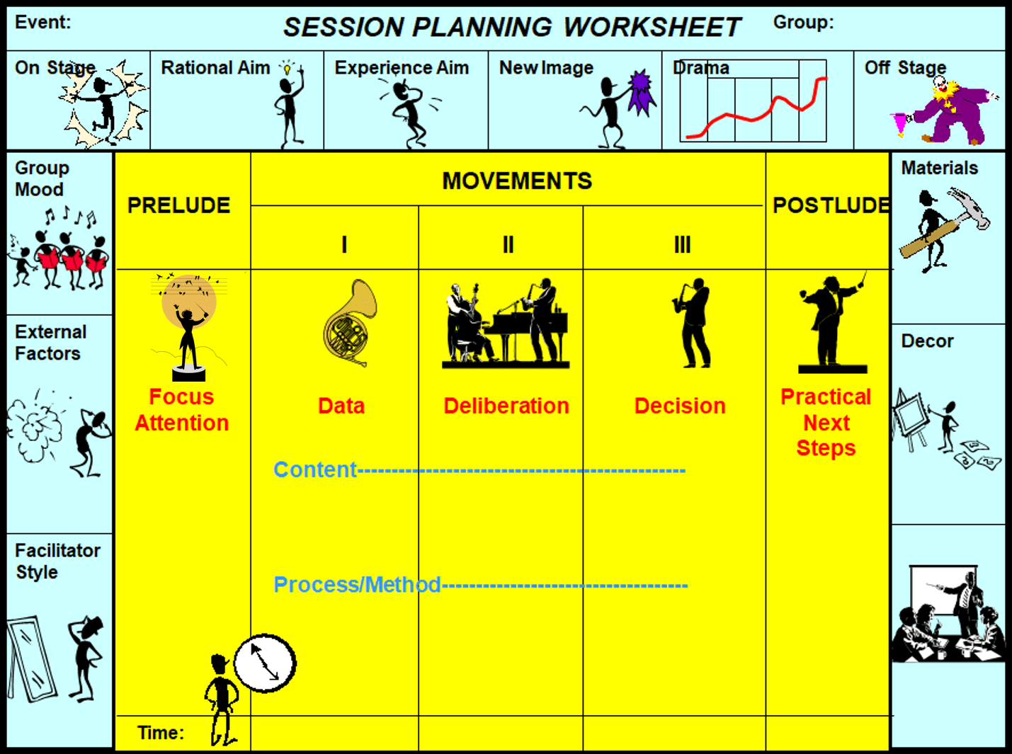 Session Planning Worksheet In Color Ica Social Research