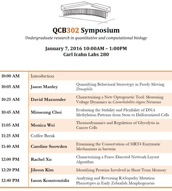 QCB 302 Symposium