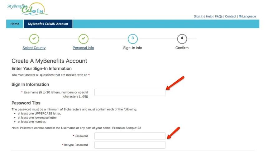 """Create a MyBenefits CalWIN Account - 3.1"""