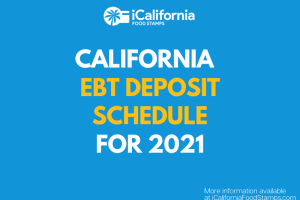 """CalFresh EBT Deposit Schedule for 2021"""