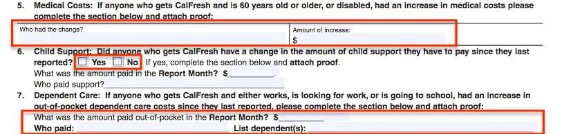 """""""SA7 Form - Expenses"""""""