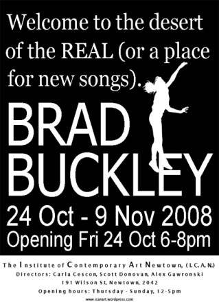 Brad Buckley - Welcome To The Desert Of The Real (Or A Place For New Songs)