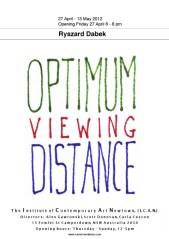 Ryszard Dabek - Optimum Viewing Distance