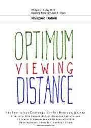 Ryszard Dabek - Optimum Viewing Distance