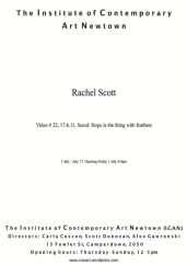 Rachel Scott - Video #22, 17.6.11, Seoul: Hope Is The Thing With Feathers