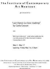 Carla Cescon - Last Dance (A Close Reading)