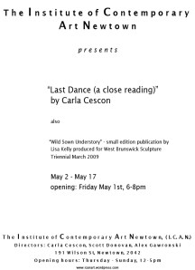 Carla Cescon - Last Dance (A Close Reading)