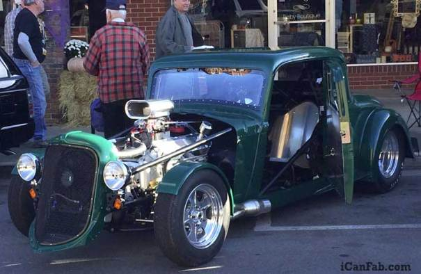 plymouth coupe at the car show