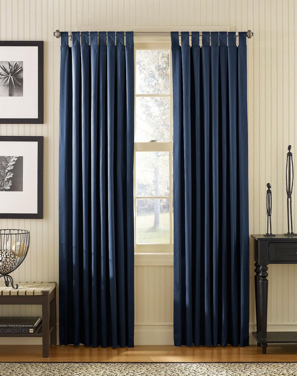 Navy Blue Bedroom Curtains