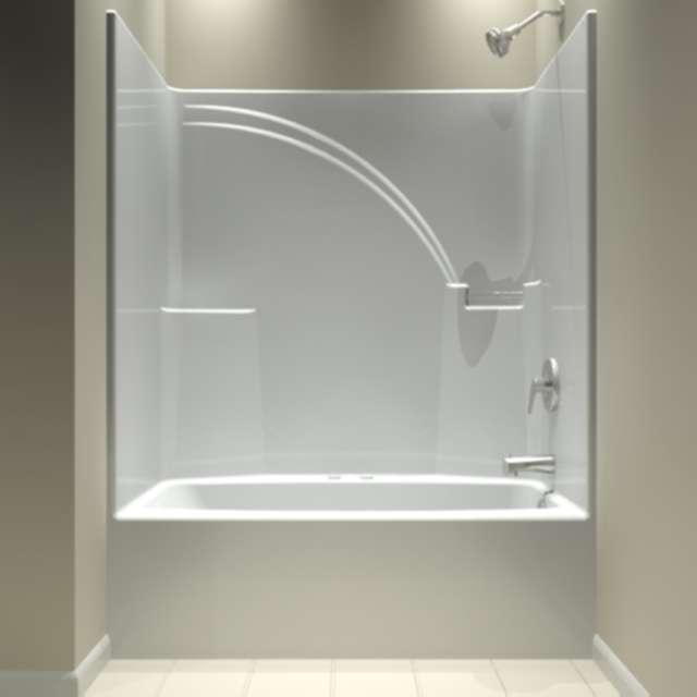 One Piece Bathtub Shower Unit Decor IdeasDecor Ideas