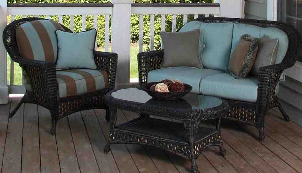 Outdoor Wicker Furniture Cushions Sets Decor IdeasDecor