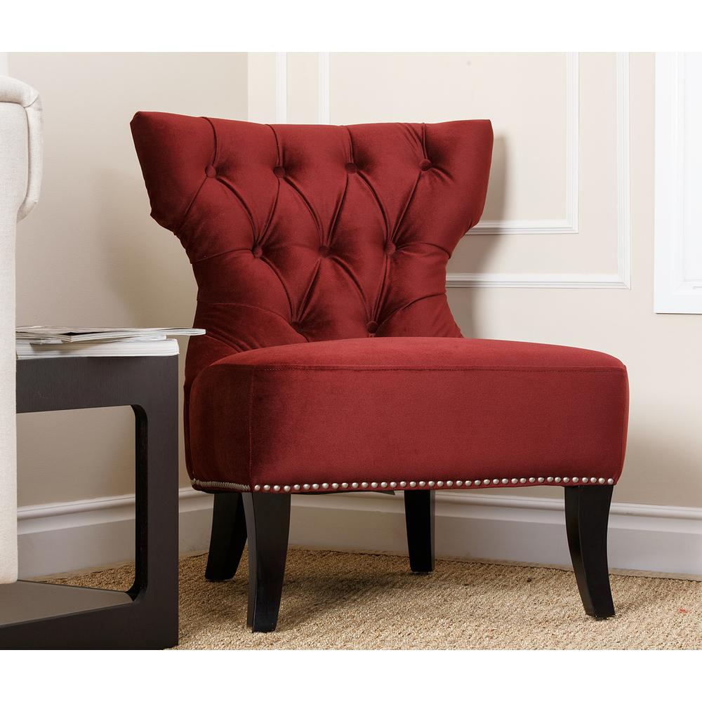 Burgundy Accent Chair Decor IdeasDecor Ideas