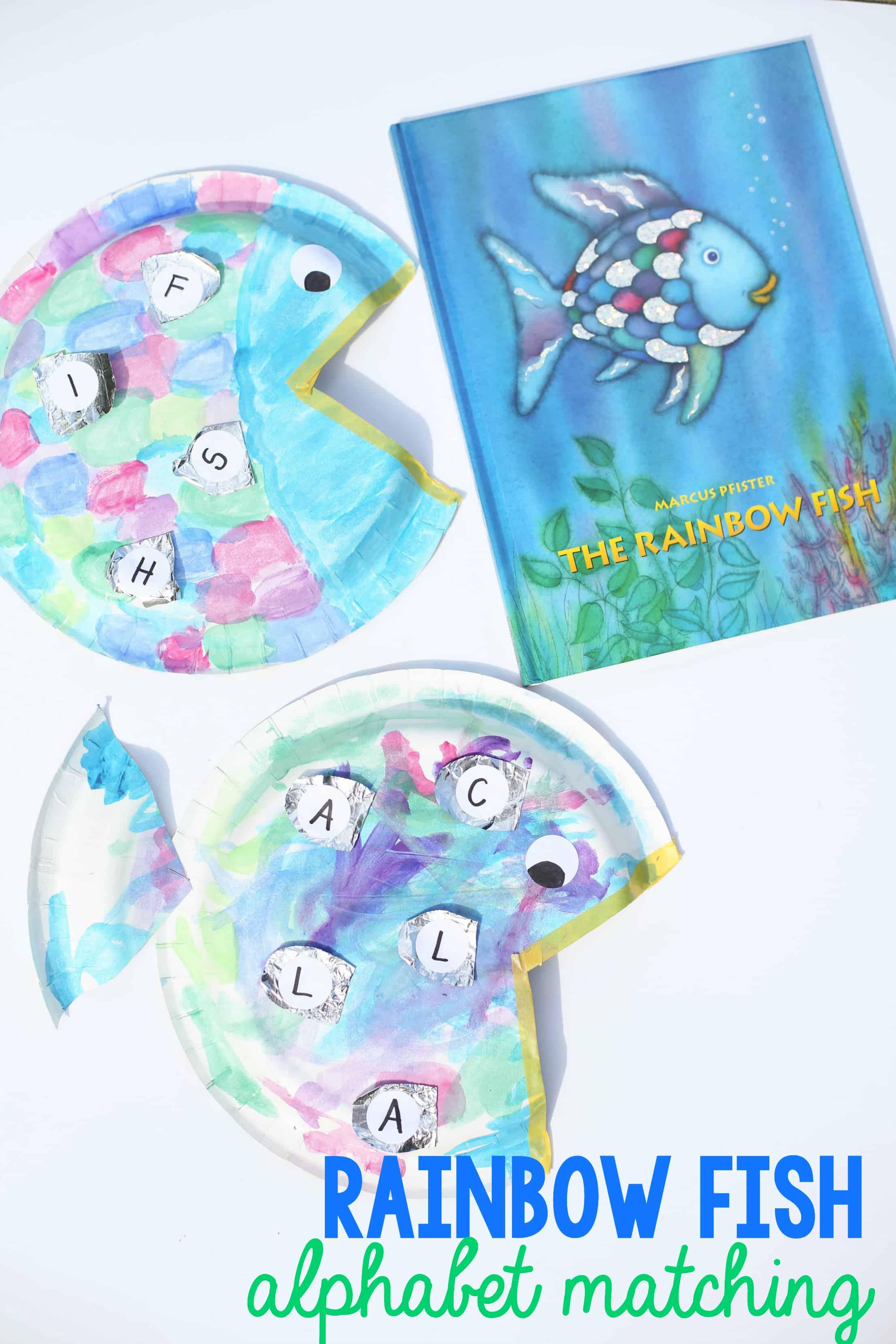 Rainbow Fish Alphabet Matching Craft
