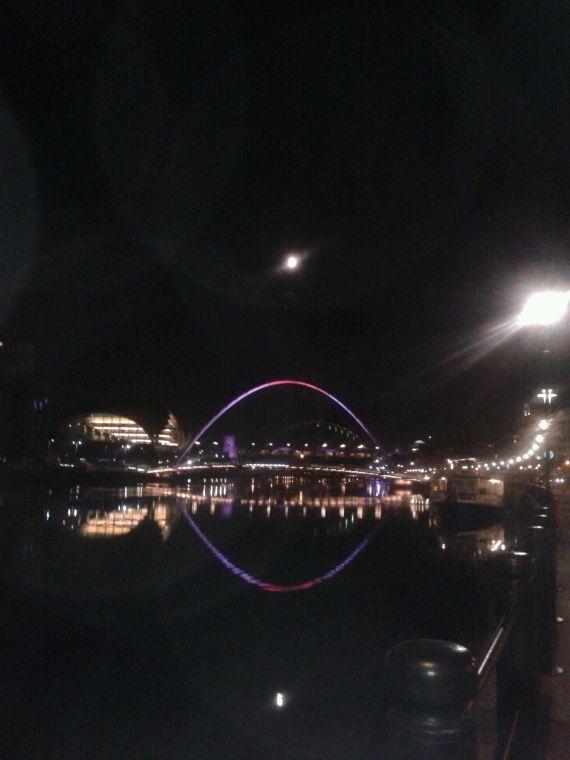 tyne at night
