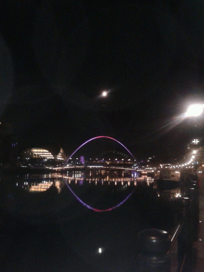 tyne at night