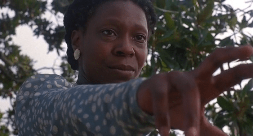Whoopi Goldberg stars in Steven Spielberg's adaptation of THE COLOR PURPLE (1985)