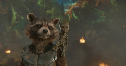 Rocket and Baby Groot in GUARDIANS OF THE GALAXY, VOL. 2