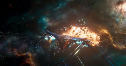 Space Battle in GUARDIANS OF THE GALAXY, VOL. 2
