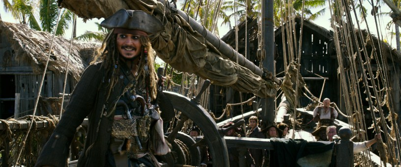 """PIRATES OF THE CARIBBEAN: DEAD MEN TELL NO TALES""..The villainous Captain Salazar (Javier Bardem) pursues Jack Sparrow (Johnny Depp) as he searches for the trident used by Poseidon..Ph: Film Frame..©Disney Enterprises, Inc. All Rights Reserved."