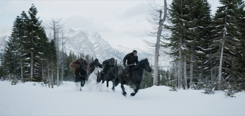 A scene from WAR FOR THE PLANET OF THE APES.
