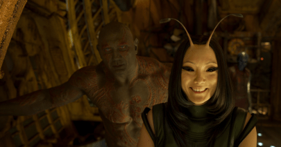 Dave Bautista and Pom Klementieff star in GUARDIANS OF THE GALAXY, VOL. 2