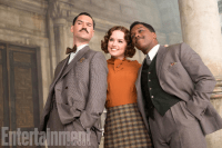 Tom Bateman, Daisy Ridely, and Leslie Odom, Jr. in MURDER ON THE ORIENT EXPRESS.