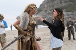 Patty Jenkins directs Connie Nielsen in WONDER WOMEN