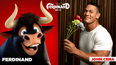 John Cena is the voice of Ferdinand in FERDINAND.