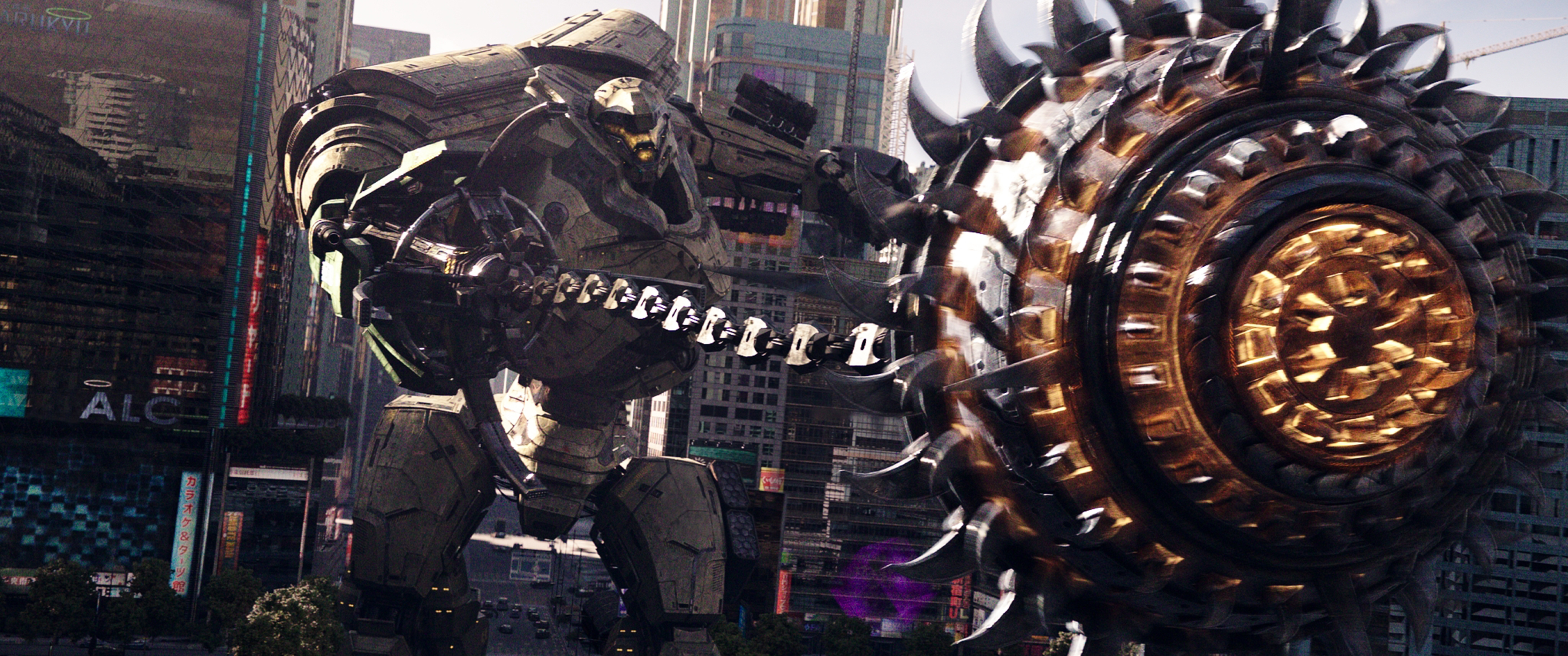 Jaegar attacks in PACIFIC RIM: UPRISING.