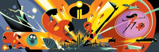 INCREDIBLES 2 Pop Art Banner