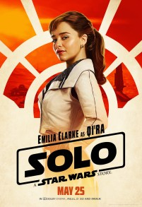 Emilia Clarke as Qi'ra in SOLO: A STAR WARS STORY.