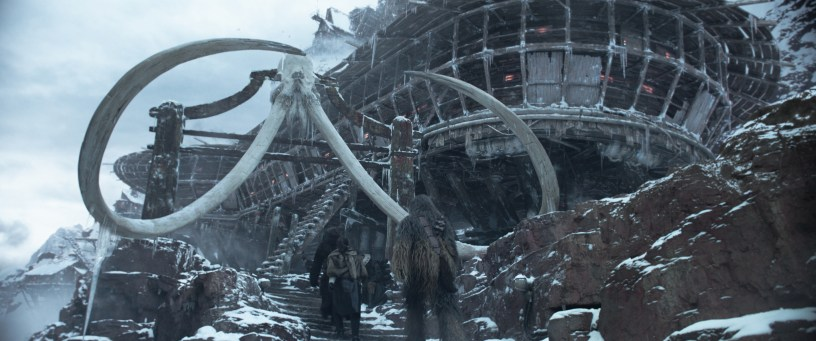Snowy outpost in SOLO: A STAR WARS STORY
