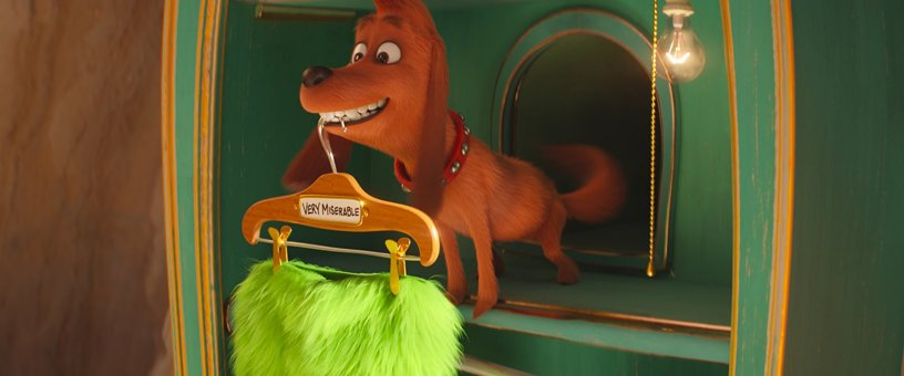 The Grinch's dog Max in THE GRINCH