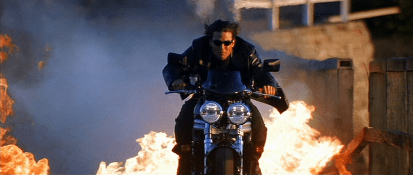 Tom Cruise stars as Ethan Hunt in MISSION: IMPOSSIBLE II (2000)