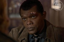 A de-aged Samuel L. Jackson co-stars as a young Nick Fury in Marvel Studios' CAPTAIN MARVEL