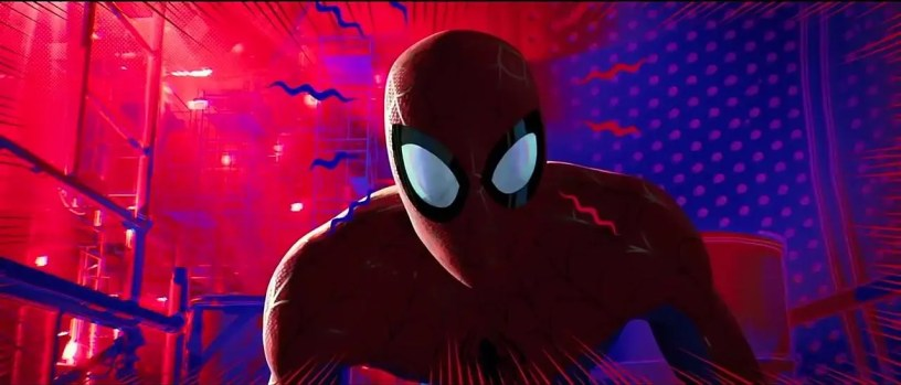Peter Parker's spidey-sense tingles in SPIDER-MAN: INTO THE SPIDER-VERSE (2018)