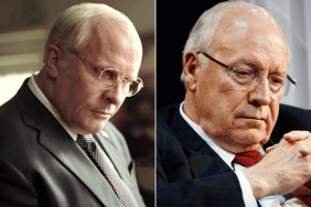Side-by-Side of Christian Bale and the real Dick Cheney - VICE (2018)