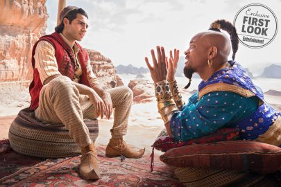 Mena Massoud and Will Smith star as Aladdin and Genie in the live-action remake of ALADDIN (2019)