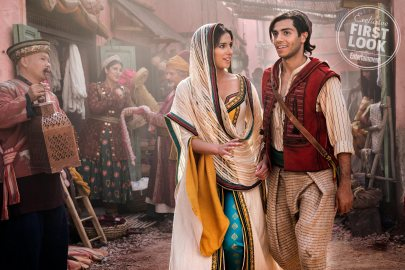 Naomi Scott and Mena Massoud star as Jasmine and Aladdin in the live-action remake of ALADDIN (2019)