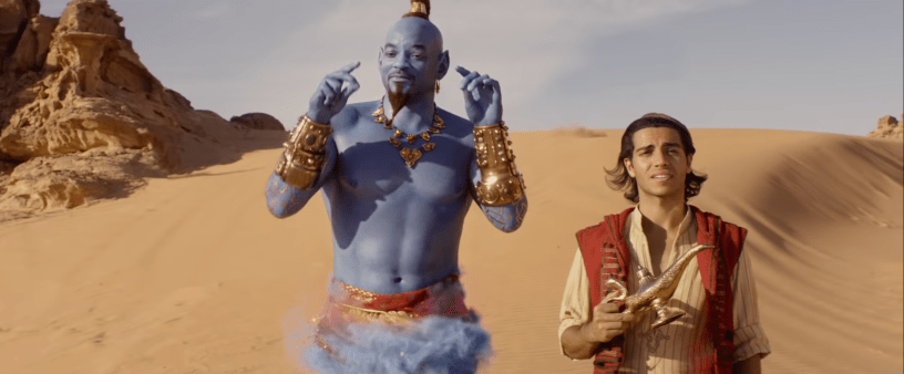 Will Smith and Mena Massoud star in Disney's live action remake of ALADDIN (2019)