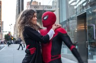 Michelle (Zendaya) catches a ride from Spider-Man in Columbia Pictures' SPIDER-MAN: ™ FAR FROM HOME.