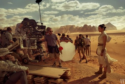J.J. Abrams and Daisy Ridely on set for STAR WARS: THE RISE OF SKYWALKER (2019)