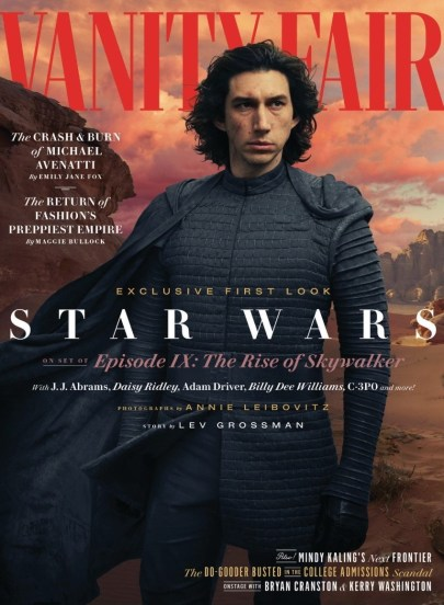 Kylo Ren character cover for Vanity Fair's coverage of STAR WARS: THE RISE OF SKYWALKER (2019)
