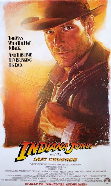 One Sheet Poster for INDIANA JONES AND THE LAST CRUSADE (1989)