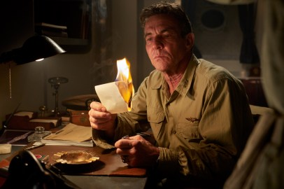 "Dennis Quaid stars as 'Admiral William ""Bull"" Halsey' in MIDWAY."