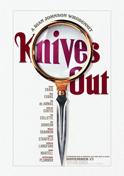 One-Sheet poster for the murder mystery KNIVES OUT (2019)
