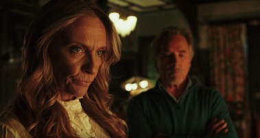 Toni Collette and Don Johnson co-star in the murder mystery KNIVES OUT (2019)
